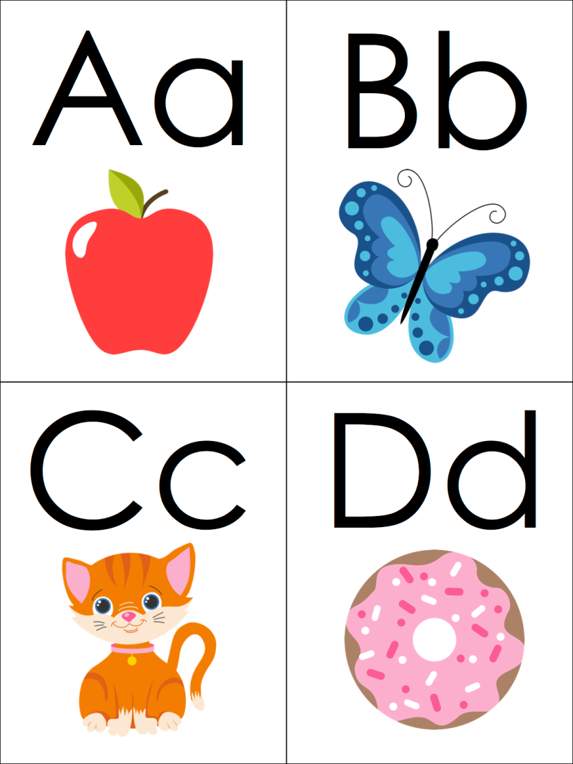 Phonics Alphabet Flashcards